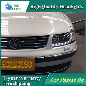 JGD Brand New Styling for VW PASSAT B5 LED Headlight 2000-2007 Headlight Bi-Xenon Head Lamp LED DRL Car Lights