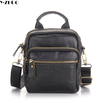 Leather men messenger bag first layer cow leather shoulder bags casual men handbag crossbody small men bags