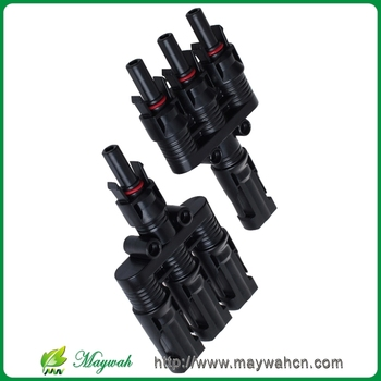 MAYLAR@ 1Pairs x MC4 3T Connector male and female, MC4 3 Branch Solar Panel Connector used for Solar module parallel connection
