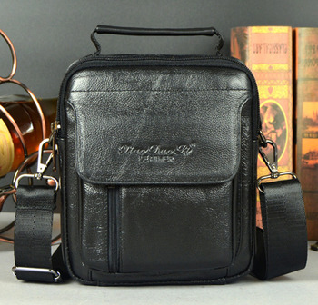 New Men Genuine Leather First Layer Cowhide Cross Body Messenger Shoulder Business Casual Handbag Tote Bag Handbags