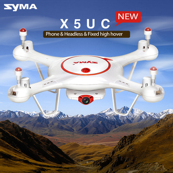 SYMA RC Drone X5UC 2.4G 6 Axis Gyro HD Camera RC Headless Quadcopter Aircraft with 2.0 MP Camera One Key Take-Off/Landing