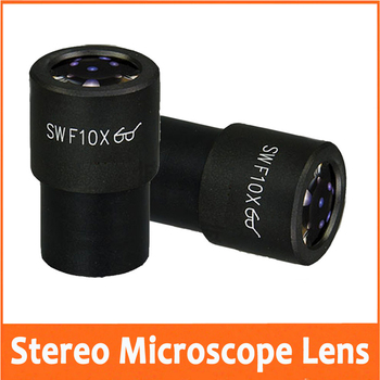 WF10X Field of View 23mm Super Wide Angle Optical Eyepiece Lens for School Lab Stereo Microscope with Mounting Size 30mm