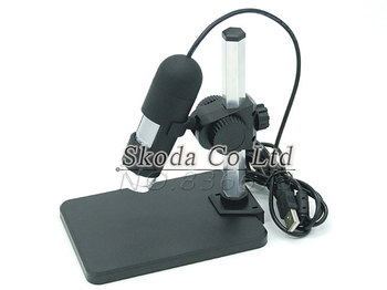 800X Zoom 8-LED 2MP USB Digital Microscope Endoscope With Holder Magnifier Camera
