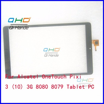 Black New Touch Screen Panel For 10.1'' inch Alcatel OneTouch Pixi 3 (10) 3G 8080 8079 Tablet PC Touch Pad Digitizer Replacement