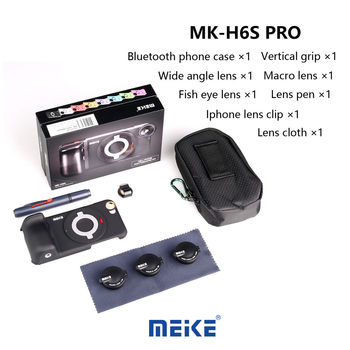 MK-H6S Pro 3in1 Bluetooth phone wide angle lens+fisheye lens+macro lens+case for iphone 6/6s Cell phone Sony ILCE-QX1