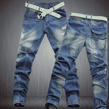 2016 new korean style branded Dimensional cut designer denim jeans for men,casual slim mens jeans, tapered pants,811 Z10 XS-6XL