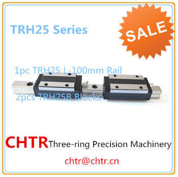 Laser Linear Guide Auto Linear Slide Made In China (1pc TRH25 L=100mm linear rail+2pcs TRH25B linear carriage blocks)