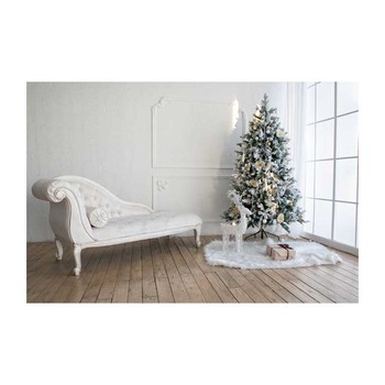 Horizontal vinyl print 3D warm white Christmas living room photography backdrop for photo studio portrait backgrounds ST-518