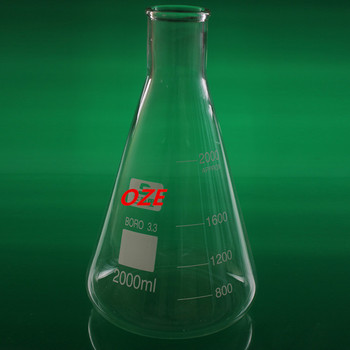 1PCS Narrow Neck Borosilicate Glass Conical Erlenmeyer Flask For Laboratory 2000ML