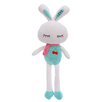 Stuffed Smiling Rabbit Toys Plush Closing Eye Dolls Gift for Kids Girl Bunny Dolls Christmas Gifts for Girls Boys 26*9