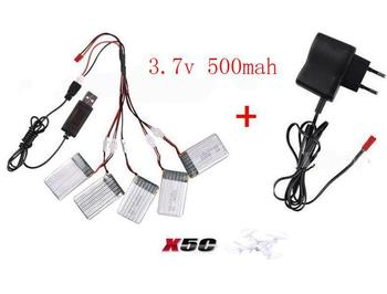 Syma x5c x5 2.4G RC quadcopter rc drone original battery 3.7v 500mah Li-po battery with wall charger