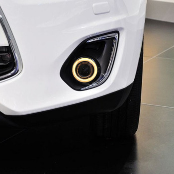 New COB Angel Eye daytime running light + halogen Fog Light with Projector Lens for Mitsubishi asx 2013-14, 2 pcs