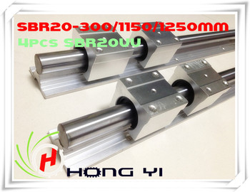 2 X SBR20 L=300/1150/1250mm Linear Rails+12 X SBR20UU straight-line motion block for SFU2005 Ball screw (can be cut any length)