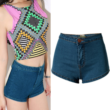 2017 Summer Women Cloth Short Jeans Night Club Exposed Hip Super Sexy High Waist Hot Pants Girl Denim Shorts Jeans