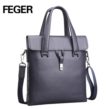 FEGER small men bag leather bolsos male one shoulder crossbody messenger bags casual man bag