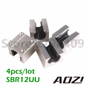 4pcs/lot SBR12UU 12mm Linear Ball Bearing Block CNC Router