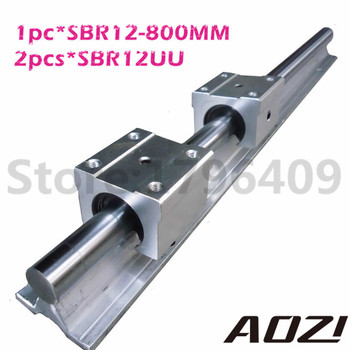 SBR12 Length 800mm Supporter Rails 1 pcs + 2 pcs SBR12UU Blocks For CNC For 12mm Linear Shaft Support Rails
