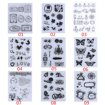 Cute Bear Heart Flowers Transparent Clear Rubber Stamp DIY Silicone Seals Scrapbooking/Photo album Decorative Stamp Sheet