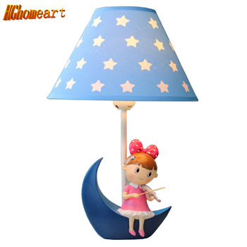 HGHomeart Dimmable Creative Jewelry LED Desk Lamp Boy and Girl Room Bedroom Living Room Feeding Reading Violin Table Lamp