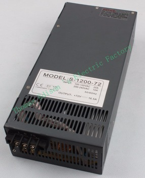 Switching power supply 1200W 72V 16.5A POWER SUPPLY for LED Strip light AC to DC power suply input 110v 220v S-1200-72