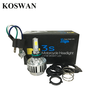 LED Motorcycle Headlight H4 Hi/Low Beam 3000LM 6000K Motorbike Bulb 32W Head lamp Xenon White Light for Hoda KTM Harley M3S H4