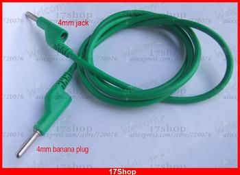 1PCS Copper Dual 4mm banana plug jack Voltage Green silicone Cables