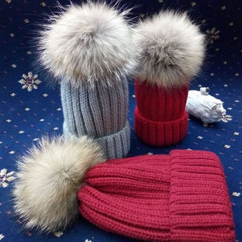 Parent - child Winter hat thick winter casual Korean wild hats female winter autumn and winter tide knitted wool hat