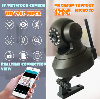 New Hot 720P Wireless Indoor P2P WiFi Baby Monitor Remote View Network Home IP Camera memory card
