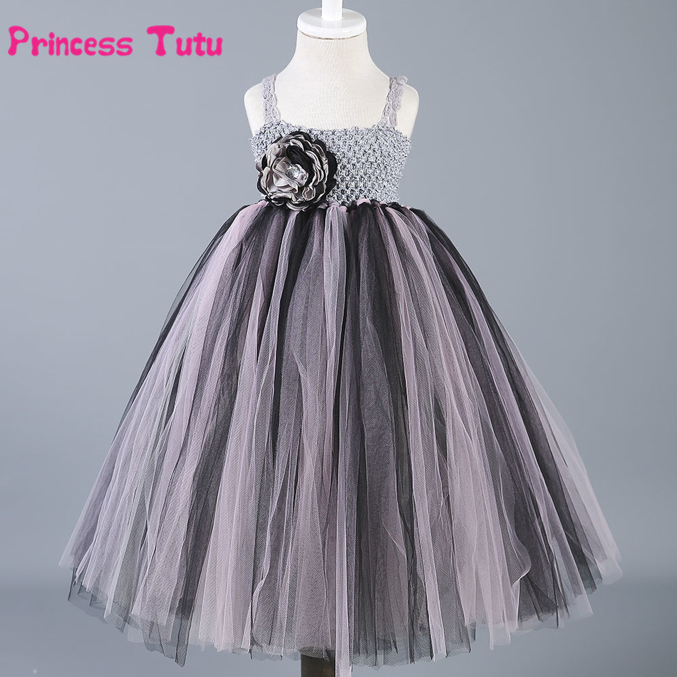 Toddler Baby Girls Tulle Tutu Dress Princess Flower Girl Dresses Vestidos Kids Party Pageant Birthday Bridesmaid Wedding Dress