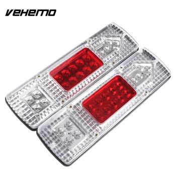 2x 19 LED Energy Saving Truck Trailer Caravan Van Lorries Rear Tail Stop Reverse Light Waterproof Lamp