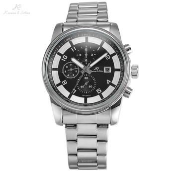 KS Brand New Calendar Display Full Stainless Steel Strap Men Self Wind Mechanical Clock Analog Relogio Automatic Masculino/KS181