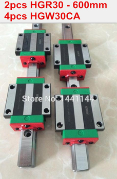 2pcs original HIWIN rail HGR30- 600mm rail + 4pcs HGW30CA blocks for cnc router