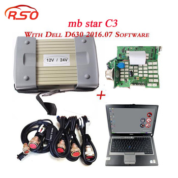 Newest Super MB STAR C3+D630 laptop Diagnosis Multiplexer Professional Car Diagnostic Tool with Xen-try HDD Software DHL Free