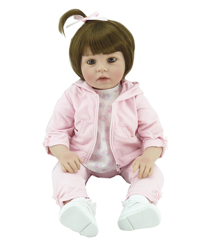 50cm Silicone Reborn Babies Doll Toys Lifelike Vinyl Lovely Princess Toddler Doll Kids Birthday Gift Child Girl Brinquedos
