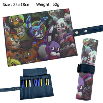 Five Nights at Freddys Reel Scroll Pencil Case Stationary Storage Bag School Pouches Children Student Pen Bag Wallet Bag Gift