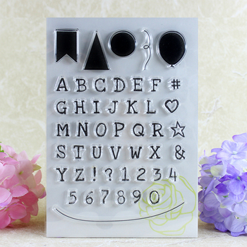 YLCS166 Letters Numbers Silicone Clear Stamps For Scrapbooking DIY Album Cards Making Decoration Embossing Rubber Stamp 11x16cm