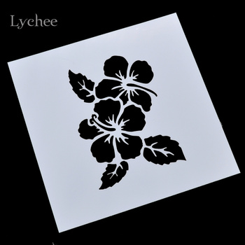 Lychee Scrapbooking Tool Card DIY Album Masking Spray Painted Template Drawing Stencils Laser Cut Templates Flowers Leaves