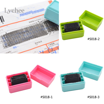 Lychee 1 Piece Security Hide ID Decorative Rubber Stamps For Scrapbooking Roller Stamp Craft For Office