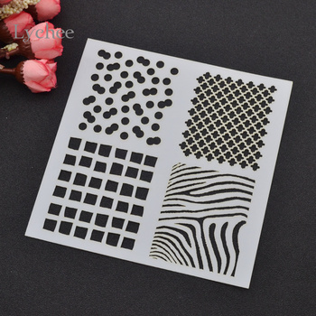 Lychee DIY Layering Stencils Masking Spray Template Drawing Stencils Laser Cut Embossing Handwork Scrapbooking Tool Card Anchor