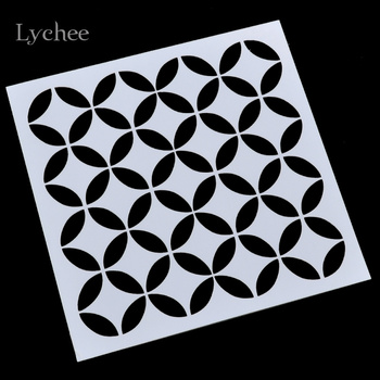 Lychee Scrapbooking Tool Card DIY Album Masking Spray Painted Template Drawing Stencils Laser Cut Templates Round Coin Circle