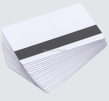 Blank White PVC Magnetic stripe card Plastic Credit Card 30Mil Magnetic Card with printable for card printer