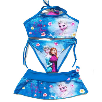 2017 New Summer Baby Girls Elsa Anna Clothes Suit Girls Clothing Sets
