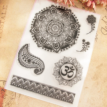 Flowers Scrapbook DIY photo cards account rubber stamp clear stamp transparent stamp 17x22cm SD469
