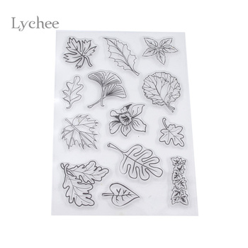 Lychee Leaves Transparent Clear Silicone Seal Stamp for DIY scrapbooking/photo album Christmas Decorative Supplies