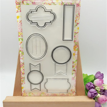 Album Frame Designs Transparent Clear Stamp DIY Silicone Seals Scrapbooking/Card Making/Photo Album Decoration Crafts