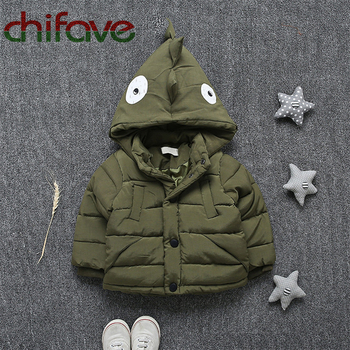 2017 Chifave New Character Dinosaur Parka Winter Unisex Kids Down Coat Single Breasted Thick Warm Baby Boys Girls Outerwear Coat