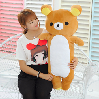 90cm San-x Rilakkuma bear plush toy long bear doll throw pillow gift w5182