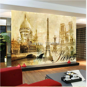 Custom 3D mural landscape painting the living room sofa bedroom retro television background wall mural wallpaper