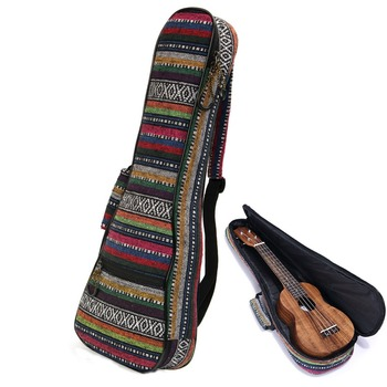 Soft Pad Cotton Folk Style Hand Portable Bag Case Cover For 21 inch Ukulele