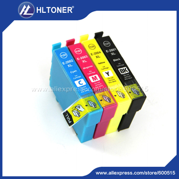 4pcs Compatible ink cartridge T2001 T2002 T2003 T2004 for Epson WorkForce WF-2510 WF-2520 WF-2530 WF-2540 XP-314 XP-400 XP-410